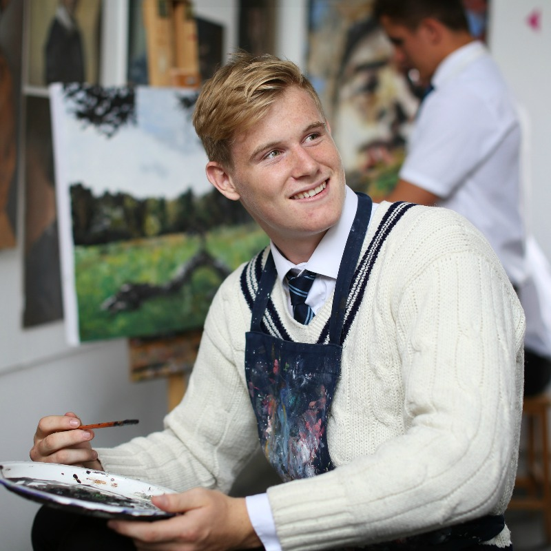 Artist in residence at Bedford School