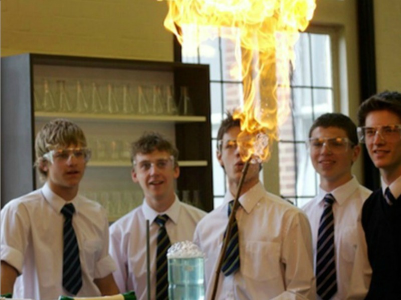 Science class at Bedford School