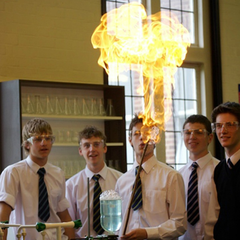 practical science lesson at Bedford School