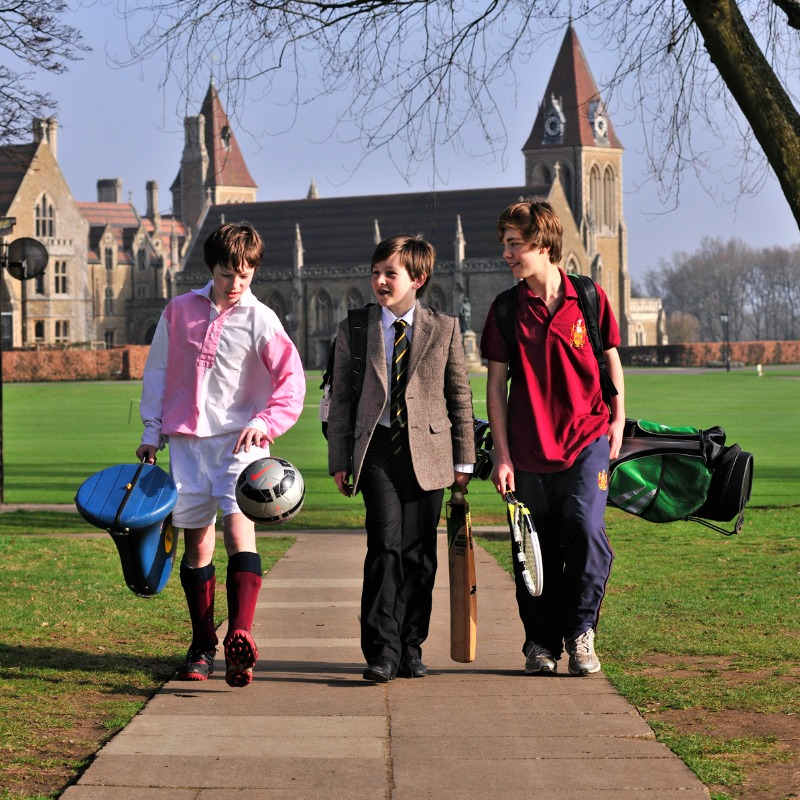 the different uniforms of Charterhouse School