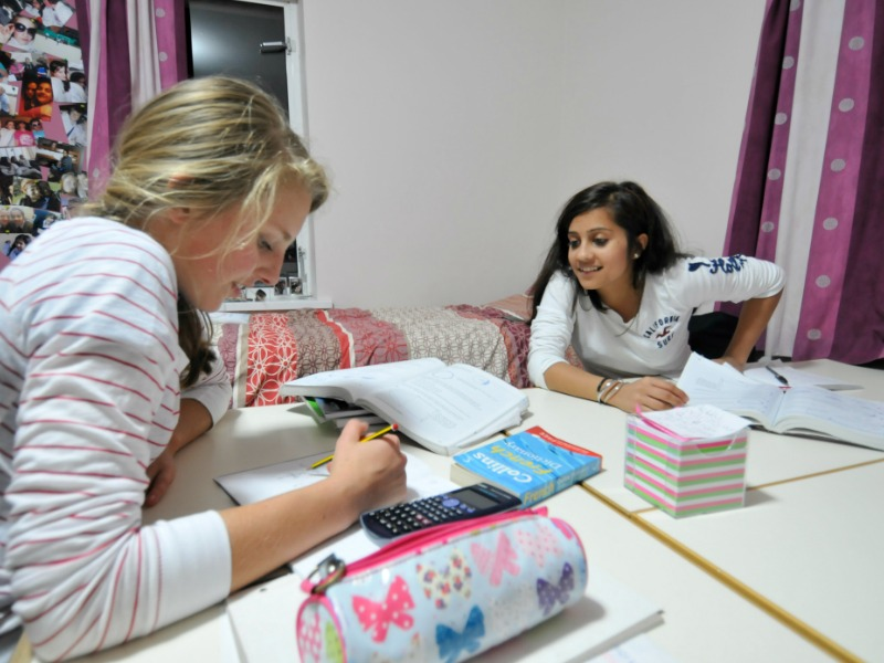 girls studying at Christ College Brecon