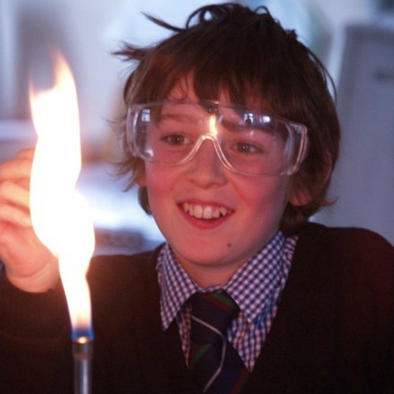 science experiment with Bunsen Burner at Millfield School