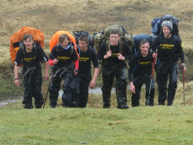 students taking part in the Ten Tors Challenge