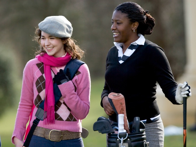 Golf is a popular extra curricular activity