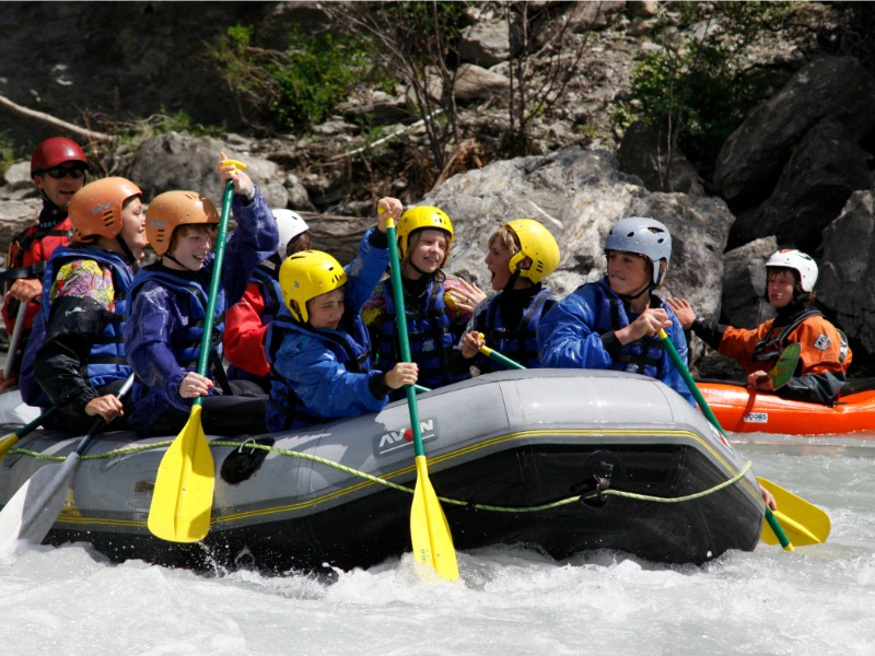 rafting as an extra curricular activity